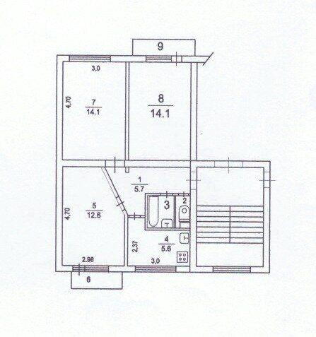 Продажа трёхкомнатной квартиры Кубинка, цена 2650000 рублей, 2021 год объявление №467718 на megabaz.ru