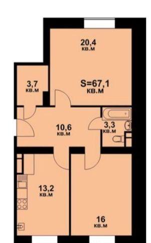 Продажа двухкомнатной квартиры село Озерецкое, цена 4600000 рублей, 2021 год объявление №386809 на megabaz.ru