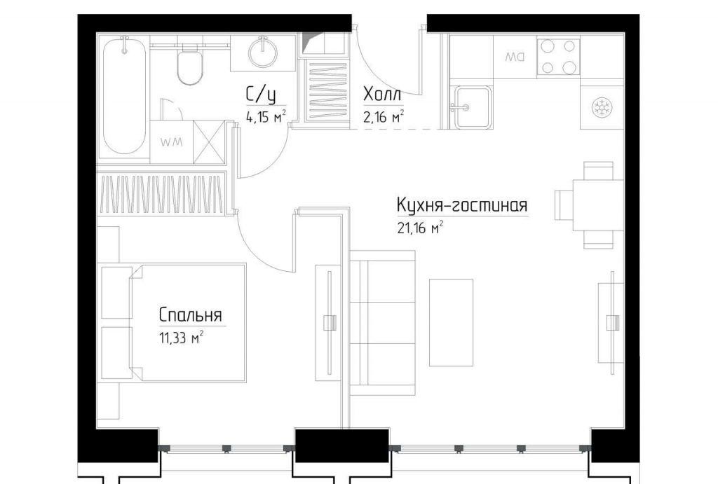 Продажа однокомнатной квартиры Москва, метро Серпуховская, цена 11400000 рублей, 2020 год объявление №362780 на megabaz.ru