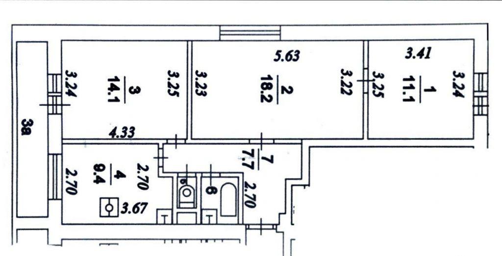 Продажа трёхкомнатной квартиры Москва, метро Беляево, улица Миклухо-Маклая 65к1, цена 13049000 рублей, 2020 год объявление №502270 на megabaz.ru