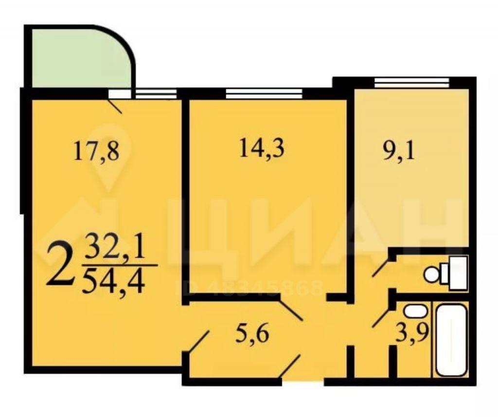 Продажа двухкомнатной квартиры Москва, метро Бульвар адмирала Ушакова, Плавский проезд 1, цена 8850000 рублей, 2020 год объявление №435481 на megabaz.ru