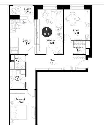 Продажа трёхкомнатной квартиры Москва, Дмитровское шоссе 107к3, цена 16200000 рублей, 2020 год объявление №446650 на megabaz.ru