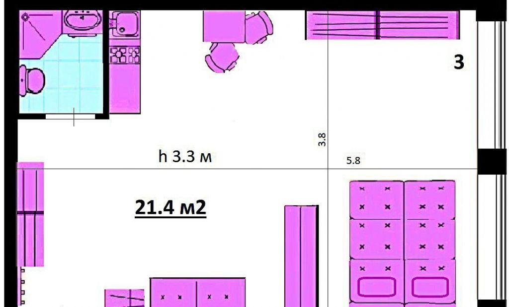 Продажа студии Москва, метро Савеловская, Вадковский переулок 12, цена 5990000 рублей, 2020 год объявление №505642 на megabaz.ru
