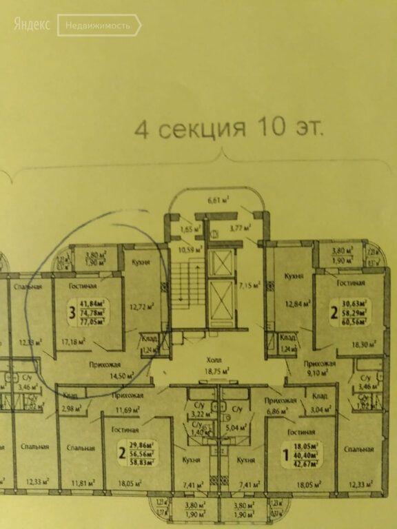Продажа трёхкомнатной квартиры Москва, метро Бунинская аллея, Чечёрский проезд 128к1, цена 12800000 рублей, 2020 год объявление №446587 на megabaz.ru
