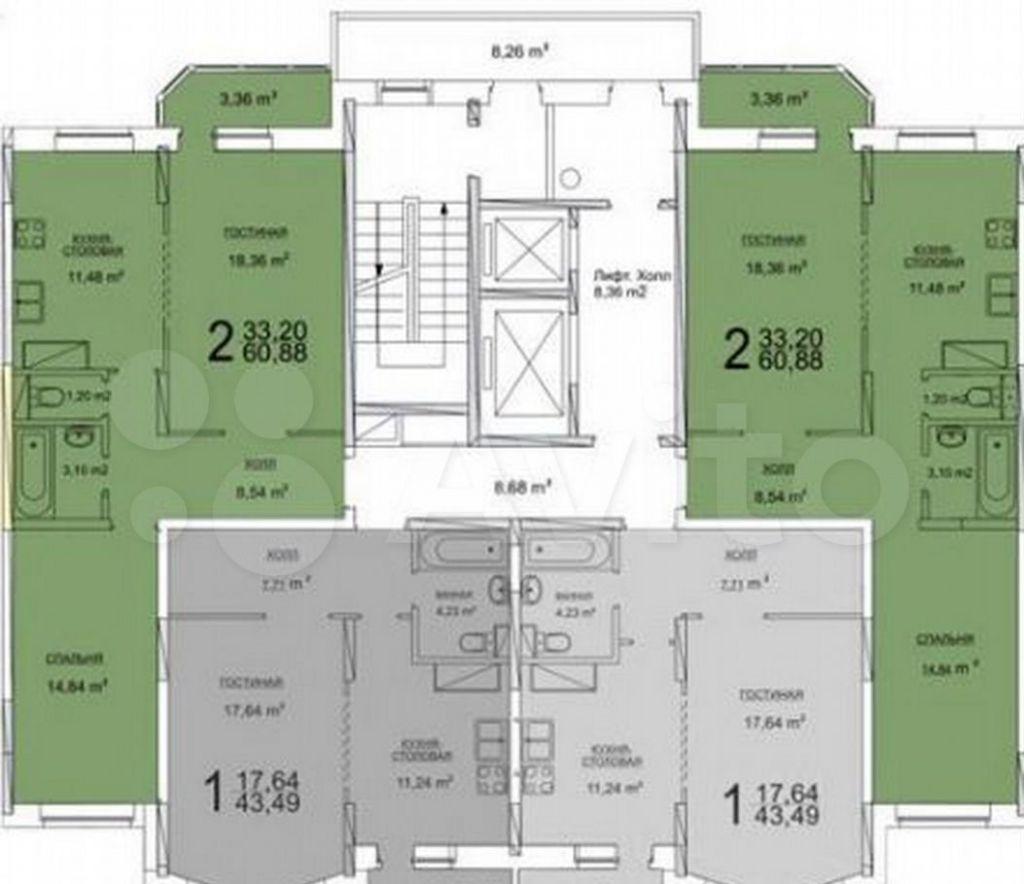 Продажа однокомнатной квартиры Ступино, улица Тургенева 15/24, цена 5100000 рублей, 2021 год объявление №615964 на megabaz.ru