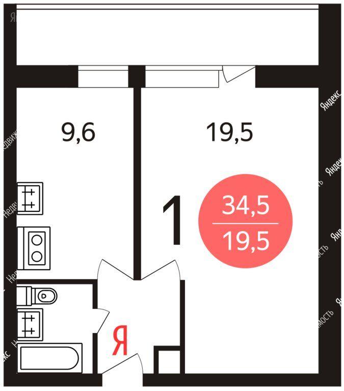 Аренда однокомнатной квартиры Москва, метро Пражская, Варшавское шоссе 131к1, цена 35000 рублей, 2020 год объявление №1127492 на megabaz.ru
