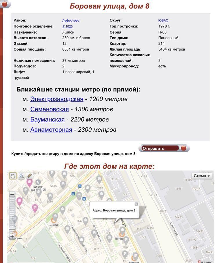 Продажа двухкомнатной квартиры Москва, метро Электрозаводская, Боровая улица 8, цена 10500000 рублей, 2021 год объявление №358469 на megabaz.ru