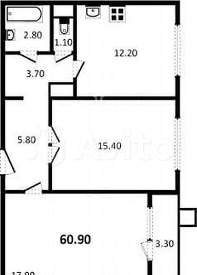 Аренда двухкомнатной квартиры поселок Битца, метро Улица Старокачаловская, Парковая улица 3, цена 40000 рублей, 2021 год объявление №1454512 на megabaz.ru