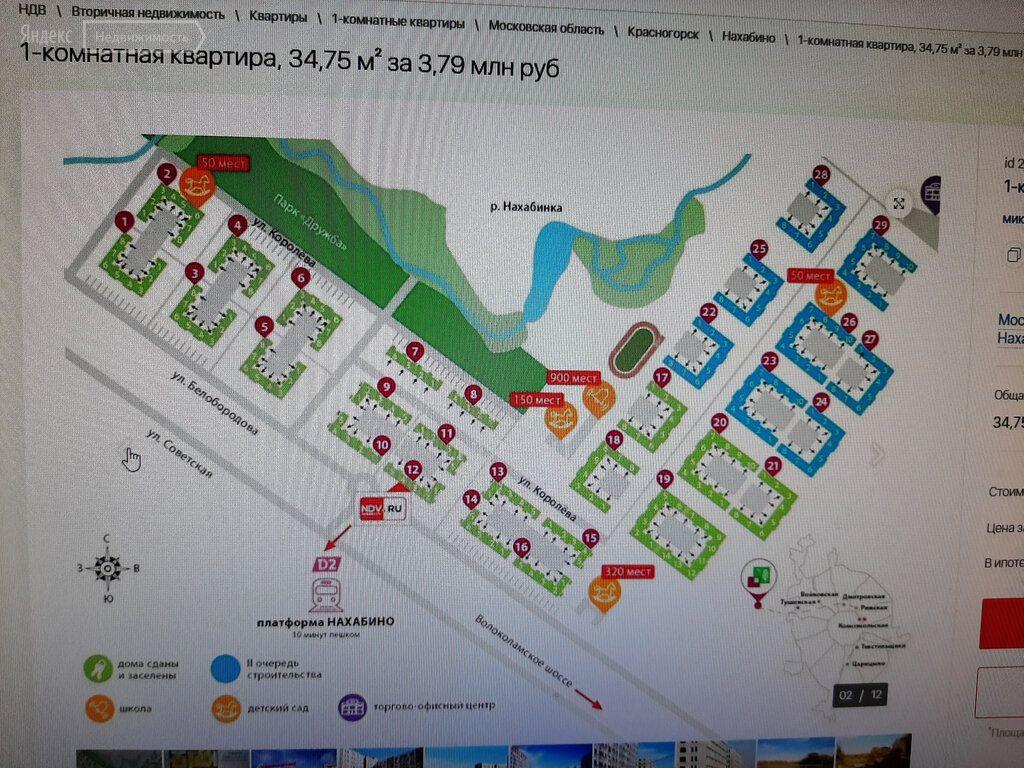 Продажа однокомнатной квартиры рабочий посёлок Нахабино, Стартовая улица 2, цена 4850000 рублей, 2021 год объявление №531078 на megabaz.ru