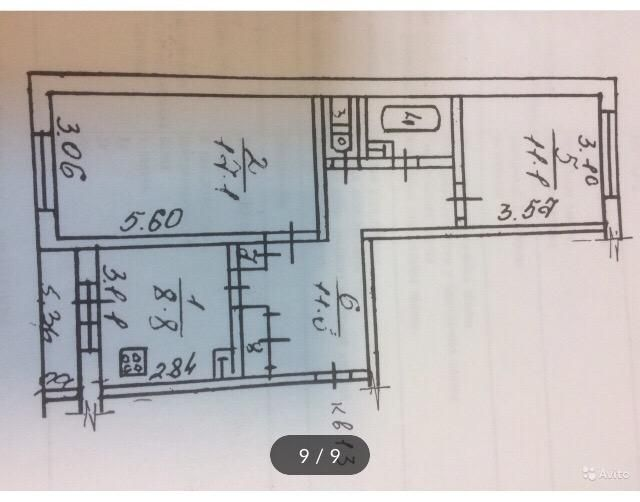 Продажа двухкомнатной квартиры рабочий посёлок Тучково, цена 3100000 рублей, 2021 год объявление №450546 на megabaz.ru