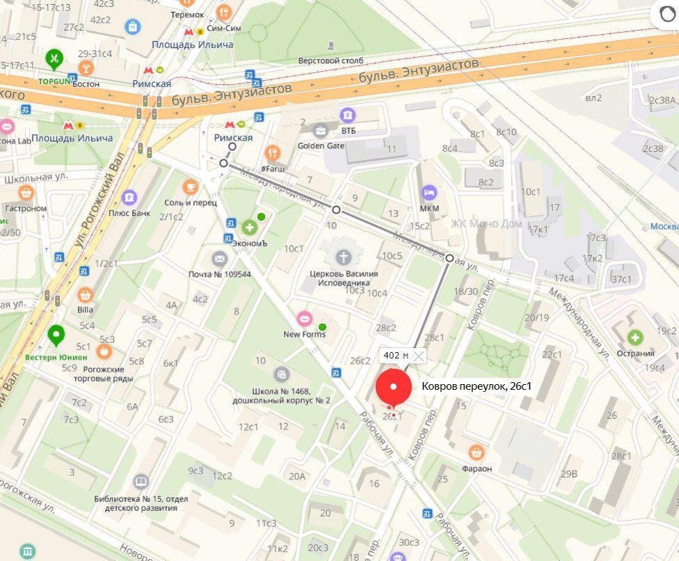 Аренда однокомнатной квартиры Москва, метро Римская, Ковров переулок 26с1, цена 51999 рублей, 2020 год объявление №1134523 на megabaz.ru