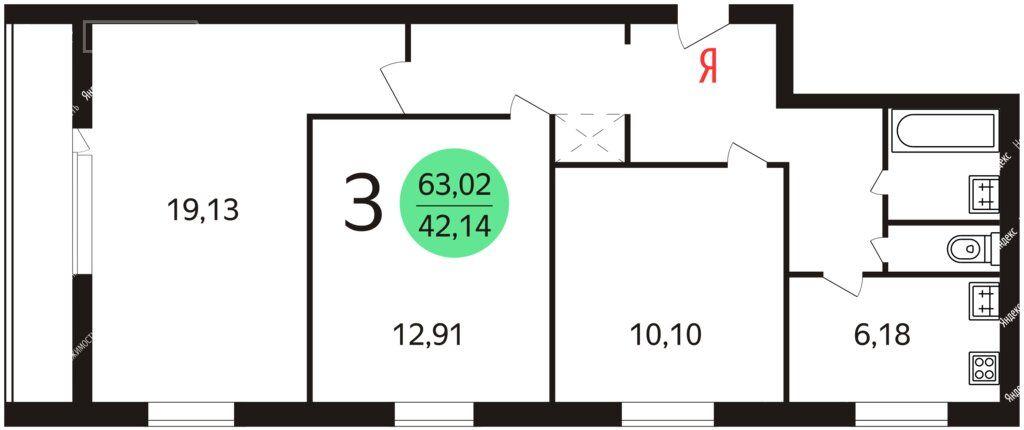 Продажа трёхкомнатной квартиры Москва, метро Рижская, Большая Переяславская улица 19, цена 16900000 рублей, 2020 год объявление №453412 на megabaz.ru
