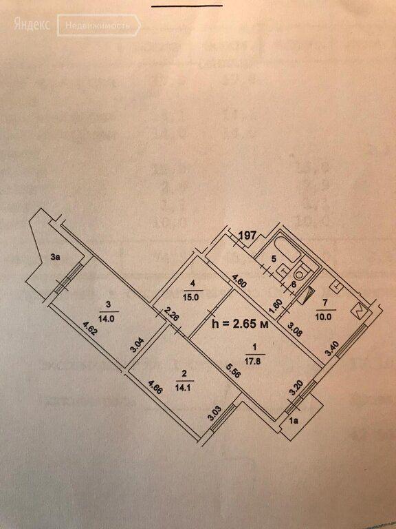 Продажа трёхкомнатной квартиры Москва, метро Лермонтовский проспект, Хвалынский бульвар 3к2, цена 13200000 рублей, 2021 год объявление №527165 на megabaz.ru