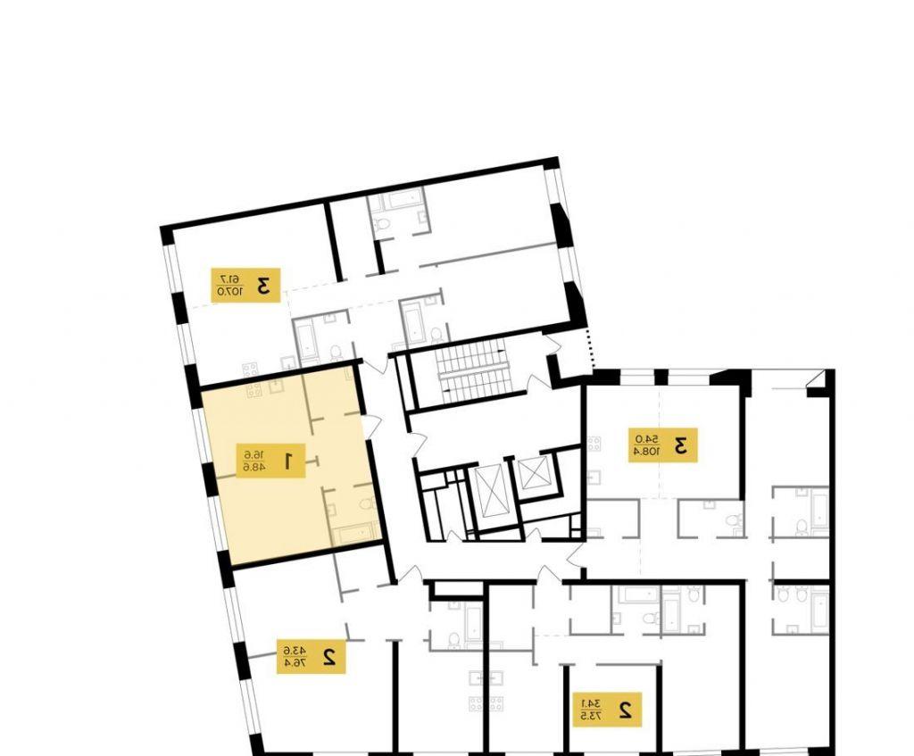 Продажа двухкомнатной квартиры Москва, метро Автозаводская, цена 15900000 рублей, 2021 год объявление №516009 на megabaz.ru