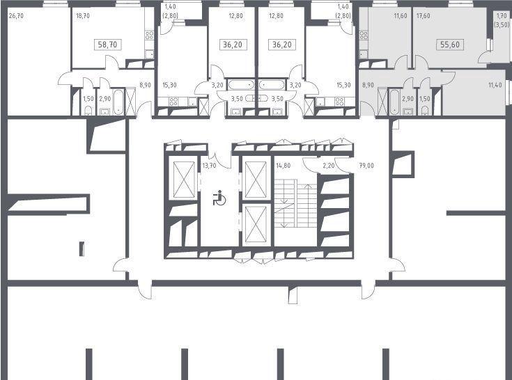 Продажа двухкомнатной квартиры деревня Одинцово, цена 6900000 рублей, 2020 год объявление №453082 на megabaz.ru