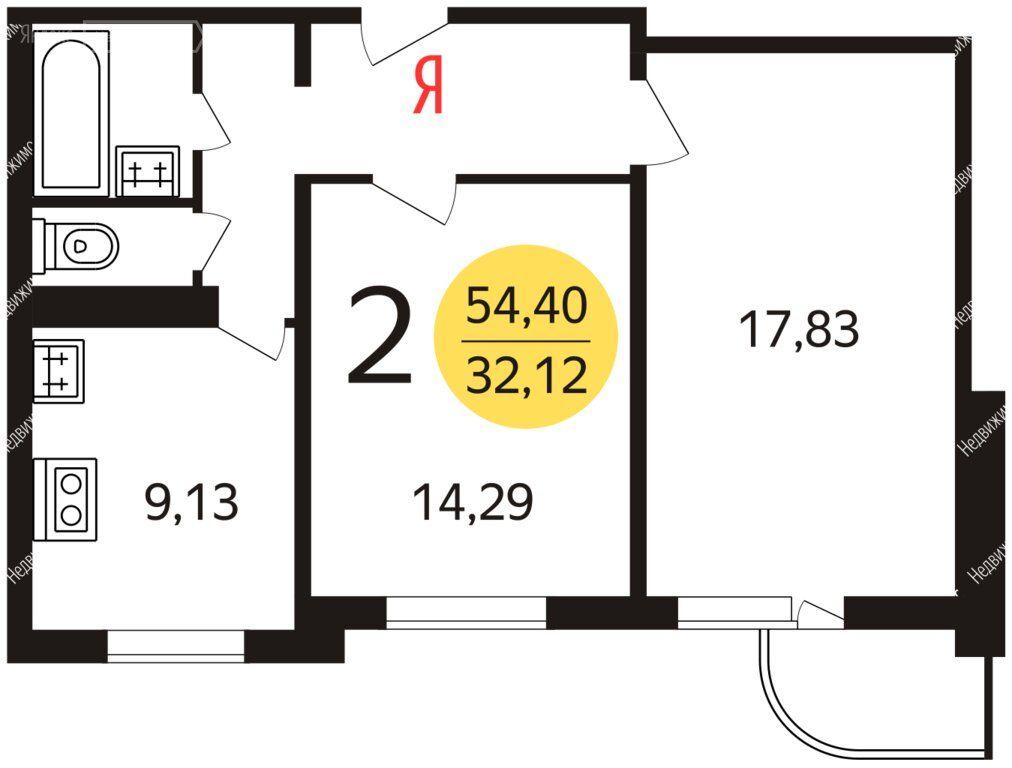 Продажа двухкомнатной квартиры Москва, метро Юго-Западная, улица Академика Анохина 11к1, цена 13990000 рублей, 2020 год объявление №505605 на megabaz.ru