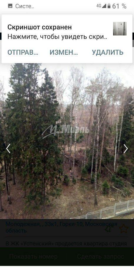 Продажа студии поселок Горки-10, цена 4100000 рублей, 2021 год объявление №397818 на megabaz.ru