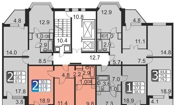 Продажа двухкомнатной квартиры село Немчиновка, Советский проспект 100, цена 6500000 рублей, 2021 год объявление №440660 на megabaz.ru