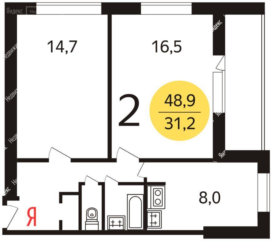 Продажа двухкомнатной квартиры Москва, метро Серпуховская, 2-й Павловский переулок 13, цена 12600000 рублей, 2020 год объявление №467669 на megabaz.ru