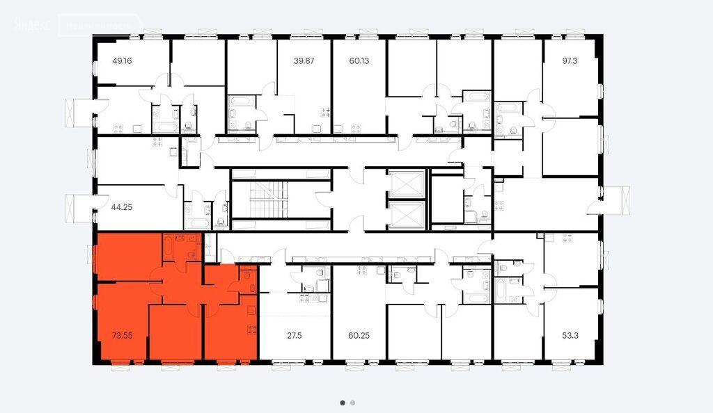 Продажа трёхкомнатной квартиры Москва, метро Савеловская, Складочная улица 6к5, цена 15799000 рублей, 2021 год объявление №537193 на megabaz.ru