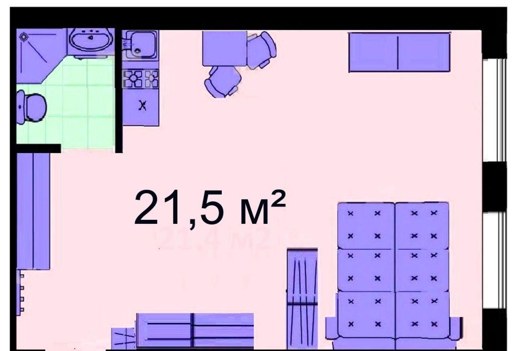 Продажа студии Москва, метро Савеловская, Вадковский переулок 12, цена 5989998 рублей, 2020 год объявление №500307 на megabaz.ru