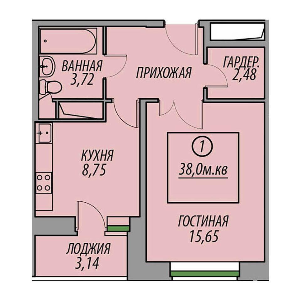 Продажа однокомнатной квартиры деревня Федурново, цена 2600000 рублей, 2020 год объявление №469984 на megabaz.ru