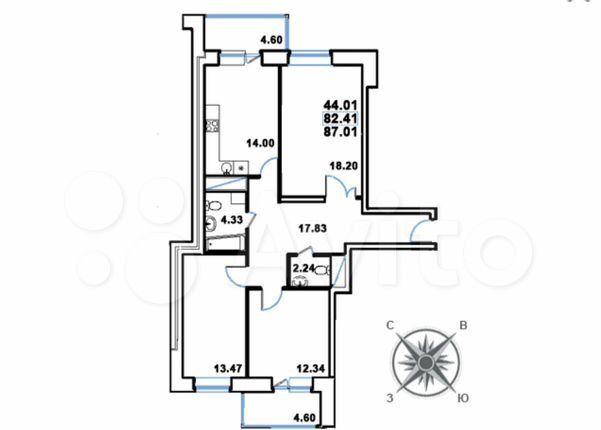 Продажа трёхкомнатной квартиры Реутов, цена 15100000 рублей, 2021 год объявление №592925 на megabaz.ru