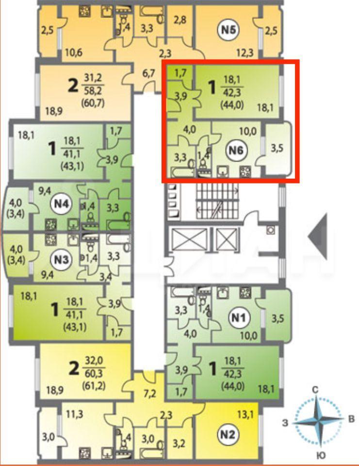 Продажа однокомнатной квартиры Балашиха, метро Курская, улица Струве 9, цена 4600000 рублей, 2021 год объявление №470251 на megabaz.ru