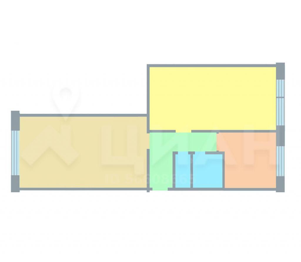 Аренда двухкомнатной квартиры Хотьково, улица Калинина 13, цена 18000 рублей, 2021 год объявление №1167677 на megabaz.ru