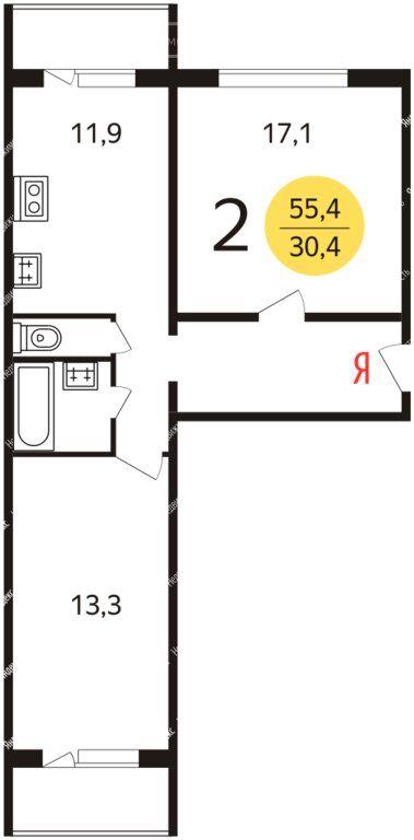 Аренда двухкомнатной квартиры Москва, метро Новокосино, Салтыковская улица 7к1, цена 37000 рублей, 2021 год объявление №1226379 на megabaz.ru