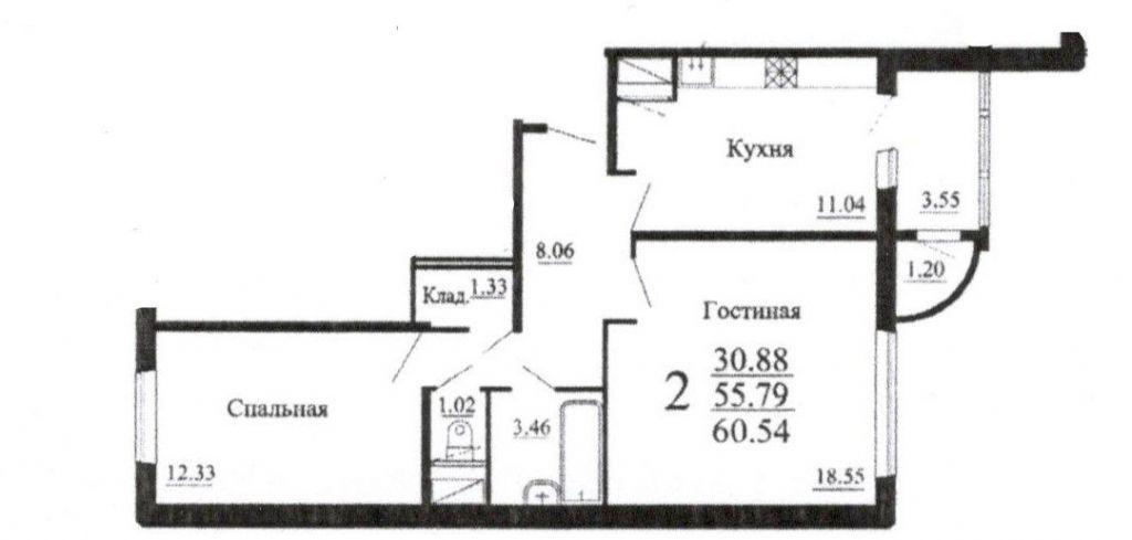 Продажа двухкомнатной квартиры посёлок городского типа Родники, Трудовая улица 7, цена 3500000 рублей, 2021 год объявление №361561 на megabaz.ru