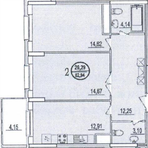Продажа двухкомнатной квартиры Реутов, метро Новокосино, улица Октября 44, цена 9800000 рублей, 2021 год объявление №600007 на megabaz.ru
