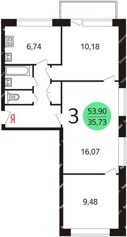Продажа трёхкомнатной квартиры Москва, метро Чертановская, Балаклавский проспект 12к2, цена 11300000 рублей, 2020 год объявление №501628 на megabaz.ru