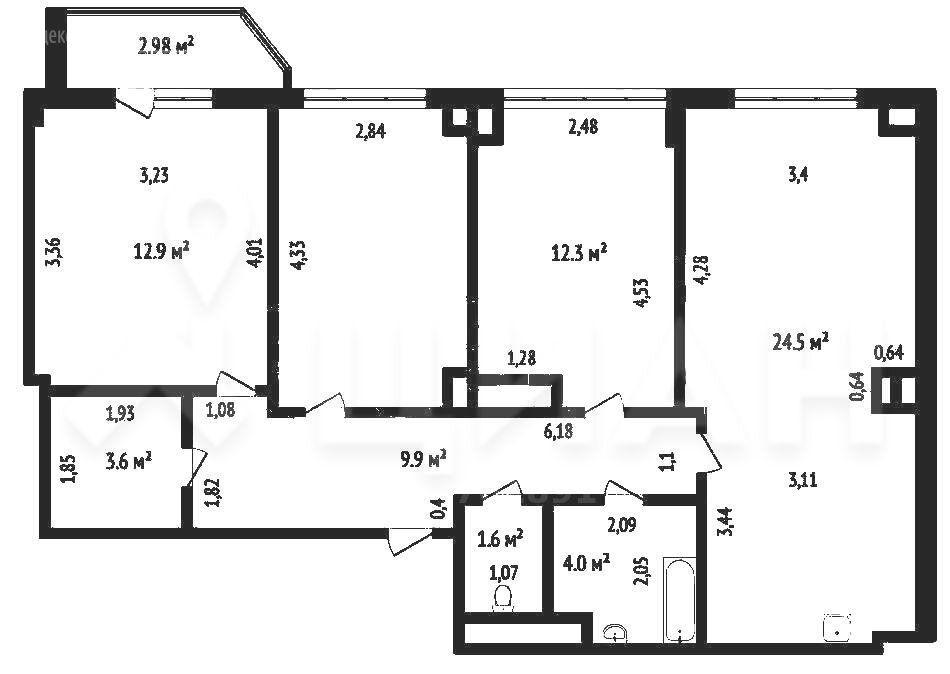Продажа трёхкомнатной квартиры деревня Путилково, метро Волоколамская, Путилковское шоссе 4к1, цена 9700000 рублей, 2021 год объявление №475943 на megabaz.ru