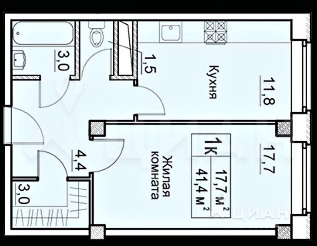 Продажа однокомнатной квартиры деревня Большие Жеребцы, цена 2700000 рублей, 2021 год объявление №487609 на megabaz.ru