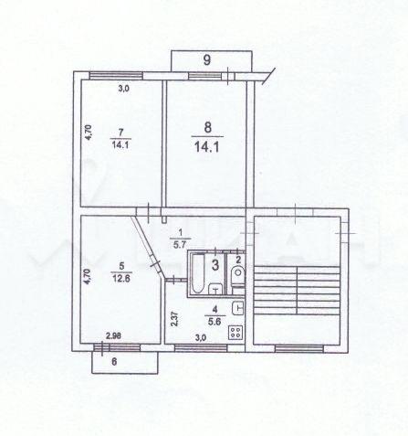 Продажа трёхкомнатной квартиры Кубинка, цена 2880000 рублей, 2021 год объявление №471876 на megabaz.ru
