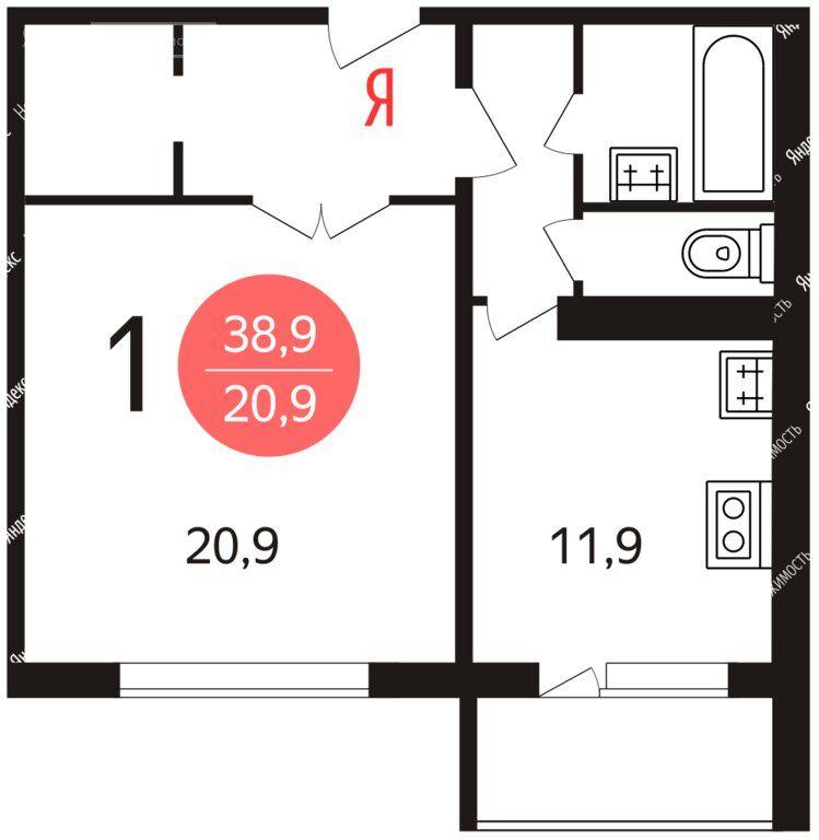 Продажа однокомнатной квартиры Москва, метро Люблино, Новороссийская улица 24к1, цена 9370000 рублей, 2021 год объявление №574286 на megabaz.ru