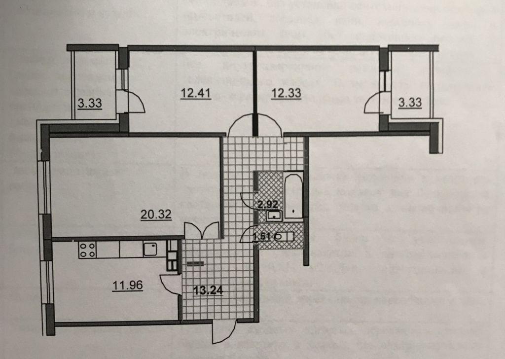 Продажа трёхкомнатной квартиры поселок Володарского, улица Елохова Роща 6, цена 6000000 рублей, 2020 год объявление №497554 на megabaz.ru
