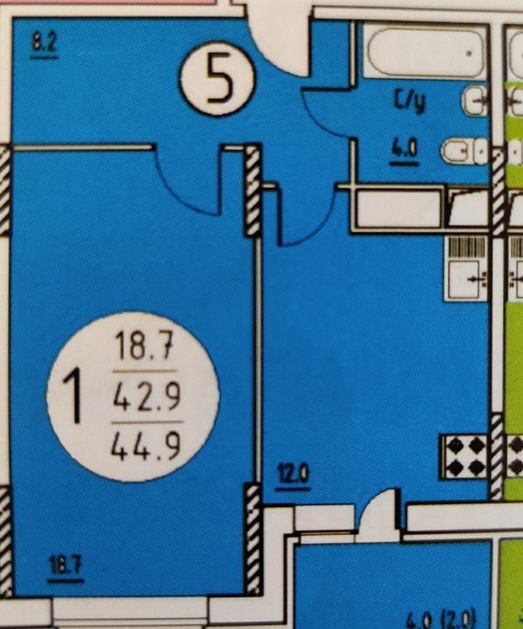 Продажа однокомнатной квартиры поселок Мебельной фабрики, Заречная улица 7А, цена 3900000 рублей, 2021 год объявление №423613 на megabaz.ru