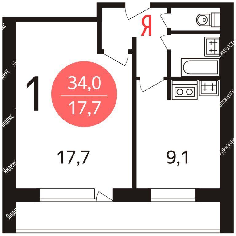 Аренда однокомнатной квартиры Москва, метро Шаболовская, улица Шаболовка 40, цена 32000 рублей, 2021 год объявление №1299374 на megabaz.ru
