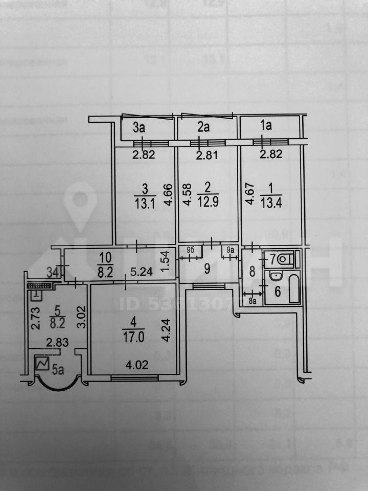 Продажа четырёхкомнатной квартиры Москва, проспект Маршала Жукова 19к1, цена 17300000 рублей, 2020 год объявление №506238 на megabaz.ru