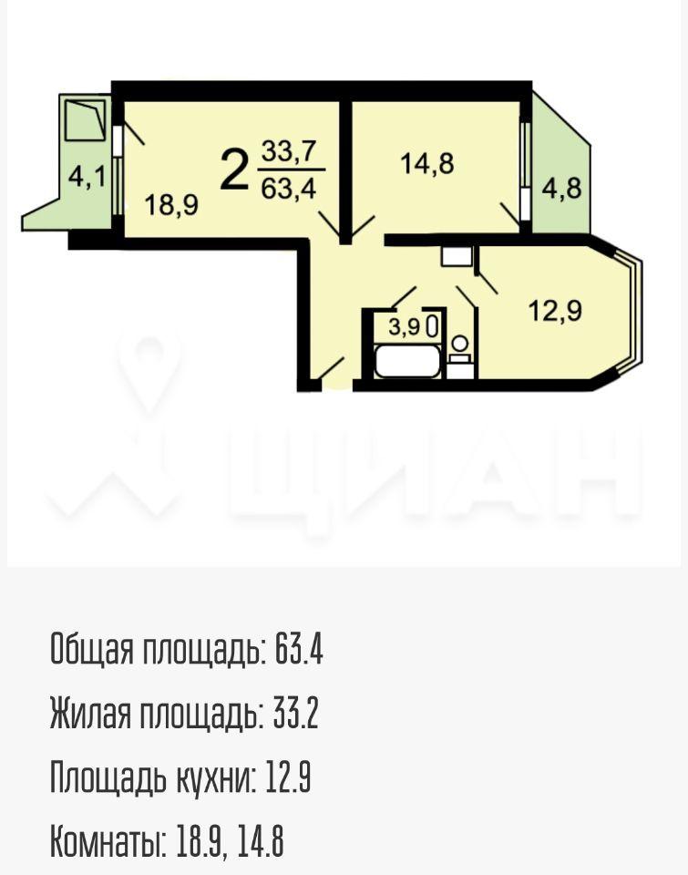 Продажа двухкомнатной квартиры Москва, метро Лермонтовский проспект, Лермонтовский проспект 16, цена 10900000 рублей, 2021 год объявление №484053 на megabaz.ru