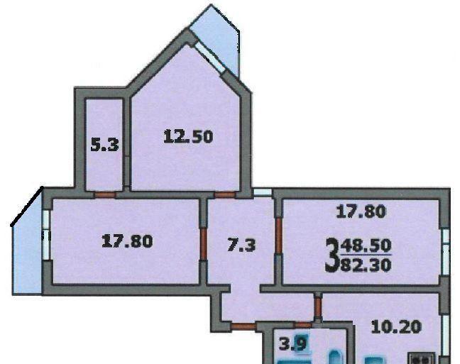 Продажа трёхкомнатной квартиры Москва, метро Каховская, Одесская улица 14к4А, цена 20000000 рублей, 2020 год объявление №483355 на megabaz.ru