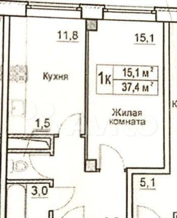 Продажа двухкомнатной квартиры деревня Большие Жеребцы, цена 3000000 рублей, 2021 год объявление №360865 на megabaz.ru