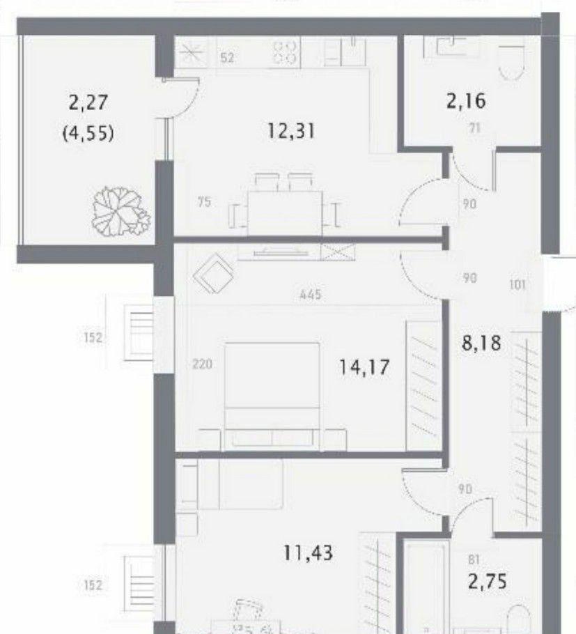Продажа двухкомнатной квартиры Москва, метро Краснопресненская, цена 4500000 рублей, 2021 год объявление №486548 на megabaz.ru