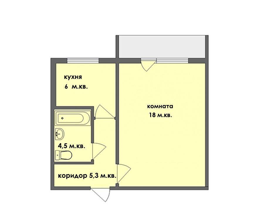Продажа однокомнатной квартиры деревня Авдотьино, цена 1690000 рублей, 2021 год объявление №424381 на megabaz.ru