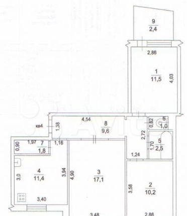 Аренда трёхкомнатной квартиры Волоколамск, проезд Строителей 3, цена 30000 рублей, 2021 год объявление №1309831 на megabaz.ru