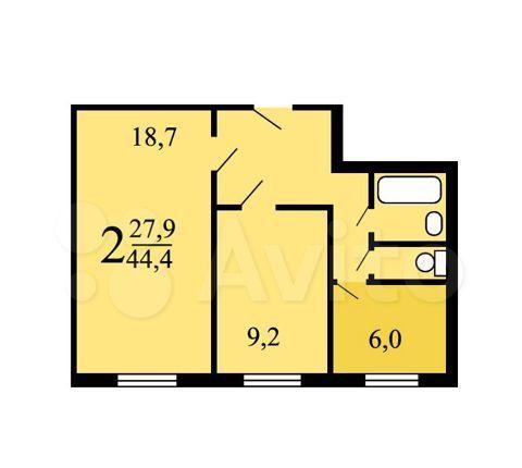 Продажа двухкомнатной квартиры Москва, метро Печатники, улица Полбина 46, цена 8600000 рублей, 2021 год объявление №565007 на megabaz.ru