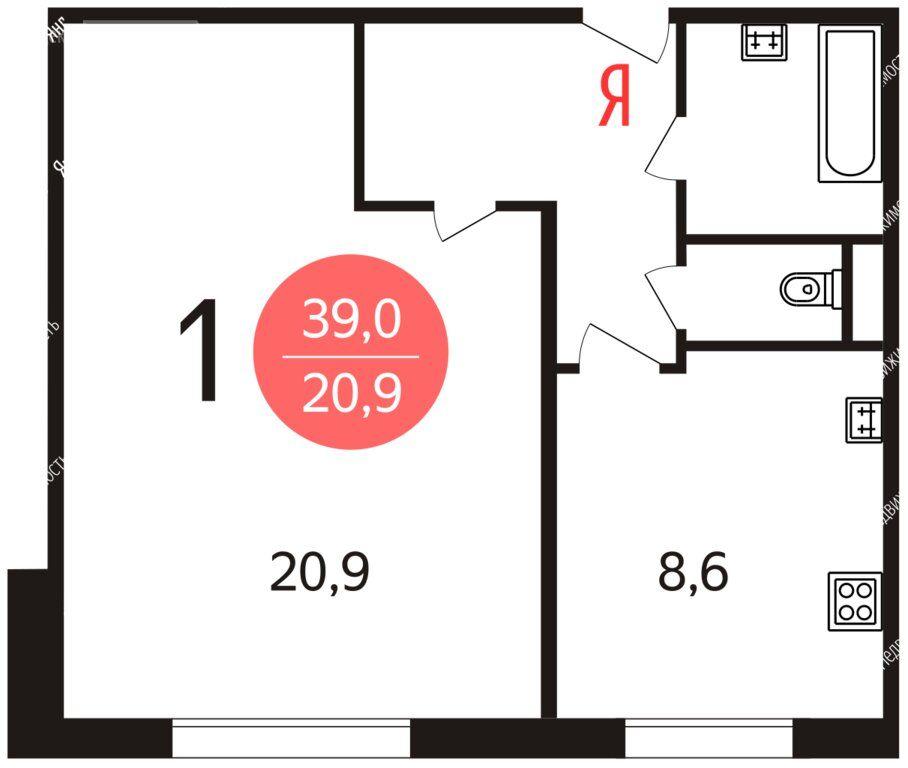 Продажа однокомнатной квартиры Москва, метро Отрадное, улица Декабристов 2к2, цена 8500000 рублей, 2021 год объявление №584236 на megabaz.ru