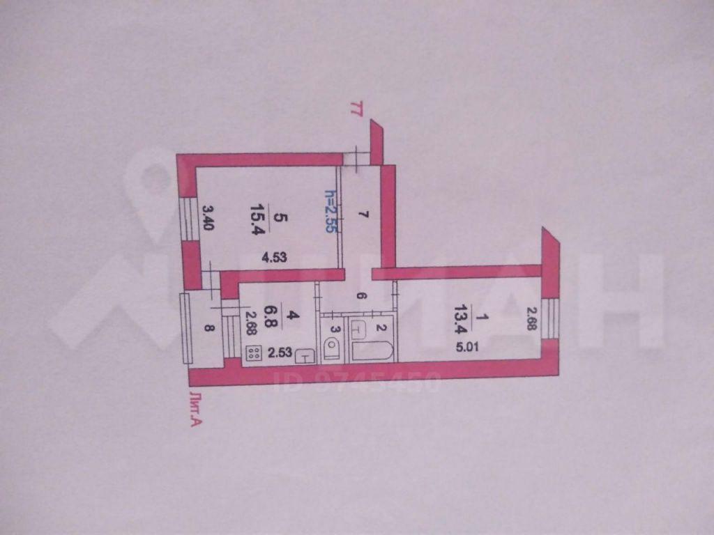 Продажа двухкомнатной квартиры поселок Реммаш, Школьная улица 16, цена 1900000 рублей, 2020 год объявление №500243 на megabaz.ru